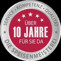 Emblem 10 Jahre Speisenmeisterei